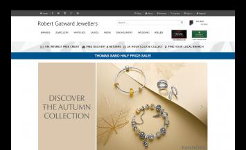 Robert Gatward Jewellers iPad