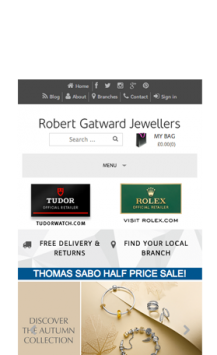 Robert Gatward Jewellers iPhone