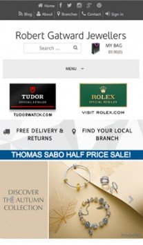 Robert Gatward Jewellers iPhone