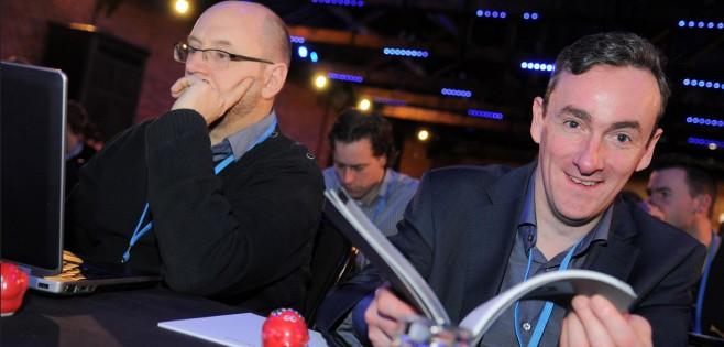 Creare's CTO Colin Craig (right) enjoying the front row.
