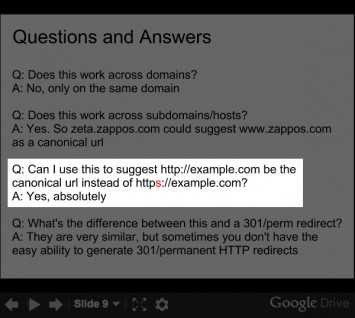 Matt Cutts Canonical Slide