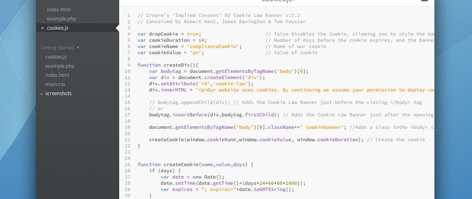 Create an Implied Consent EU Cookie Law Banner with JavaScript