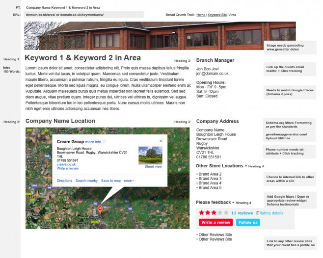 Example Local Landing Page
