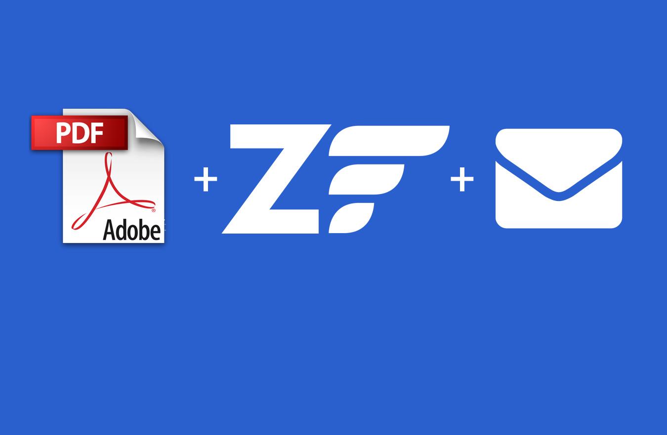 Create PDF & Mail Attachment in Zend Framework