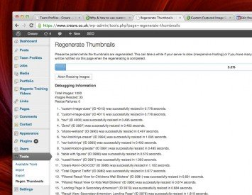 Regenerate Thumbnails is a free WordPress plugin