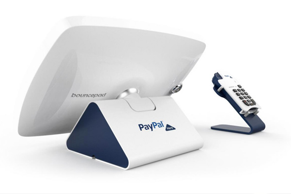 PayPal Here connected to the Bouncepad POS