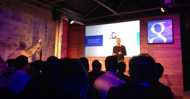 Google's Tim Frank talking at the launch of Google Partners UK