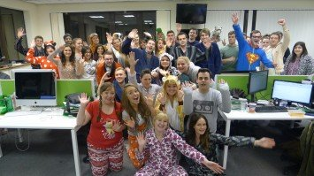 The Creare SEO Team in their Pyjamas and Onesies