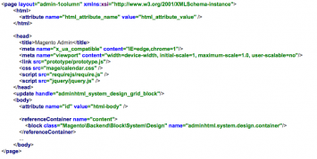 Page Layout XML