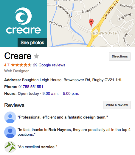 Creare Google+