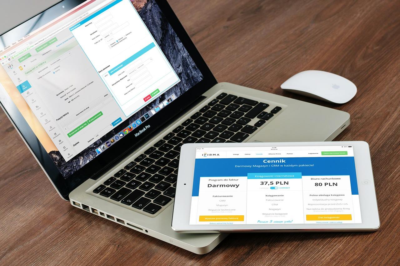 Website on Laptop & Tablet