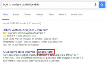 qualitative data serp