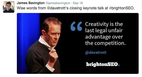 Dave Trott BrightonSEO