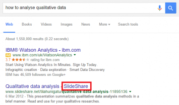qualitative data serp