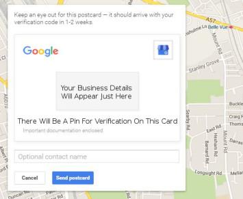 Google Verification Card