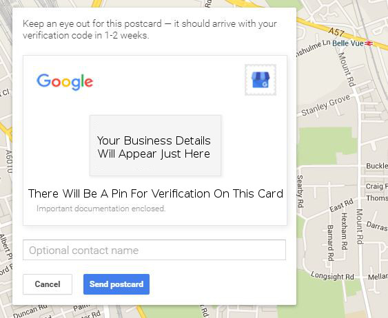 Google Verification Card