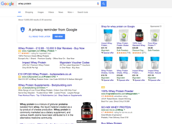 Ecommerce Search SERPs