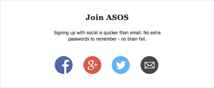Social Sign Up